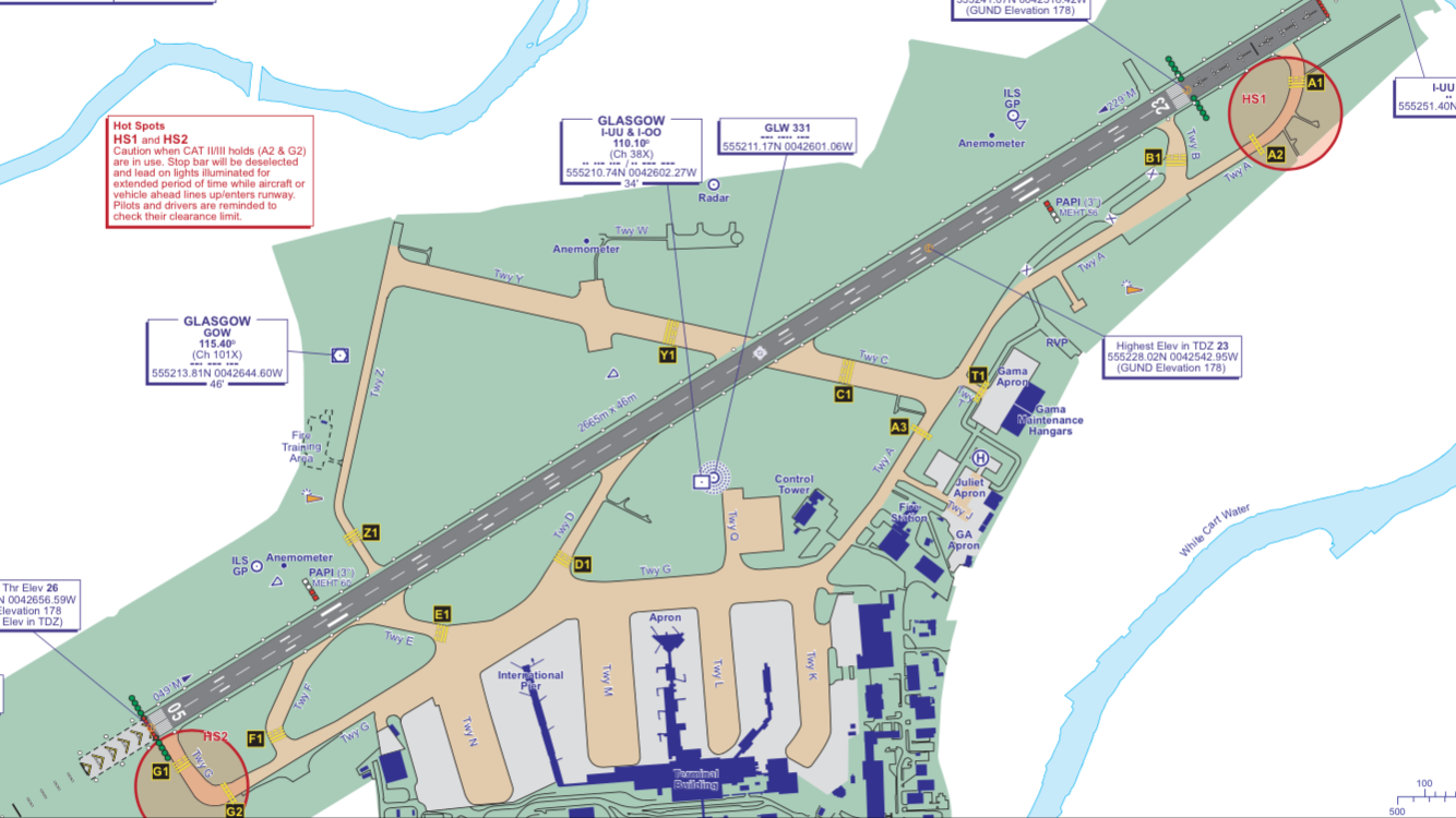 Glasgow Ground Layout (Taxiways)